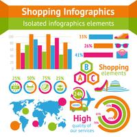 Shopping infografiskt set