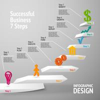 Successful business staircase infographic