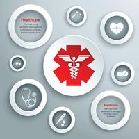 Medizinische Papiersymbole
