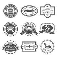 Auto service labels vector