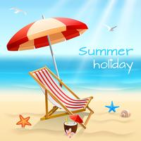 Summer holidays background poster vector