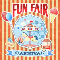 Vintage carnaval poster sjabloon