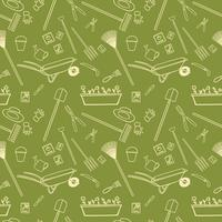 Garden tools seamless pattern vector