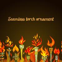 Seamless torch ornament