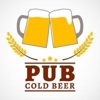 Cartaz de pub de cerveja vetor