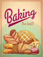 Horneando el mejor póster de pastelería.