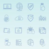 Informatie technologie beveiligingspictogrammen instellen