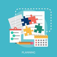 Planning Conceptual illustration Design vector