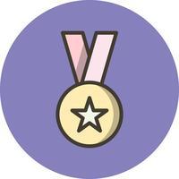 Icône de récompense de vecteur
