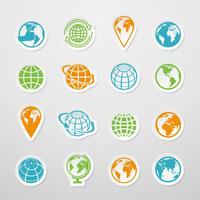 Sticker Globe Icons