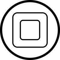 Vektor-Symbol zu stoppen