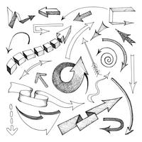 Arrows icon sketch vector