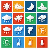 Weersverwachting Icons Set
