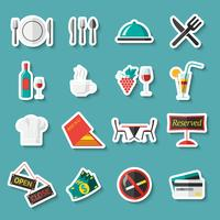 Restaurant icons stickers