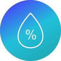 Ícone de vetor de umidade