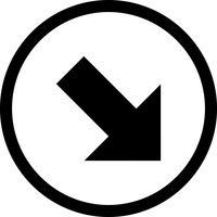 Right Down Vector Icon