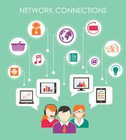 Conceito de conexão de rede social