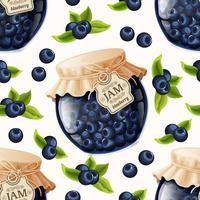 Blueberry jam seamless pattern