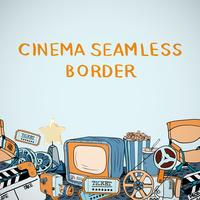 Cinema sketch seamless border