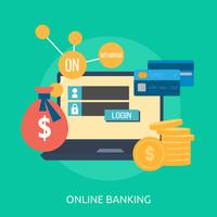Online Banking Conceptual illustration Design