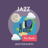 Jazz For Earth Konceptuell Illustration Design