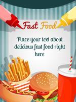 Affiche menu restauration rapide