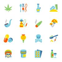 Drugs pictogrammen plat