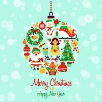 Weihnachtsikonen-Kugelform
