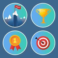 Conjunto de iconos de logro