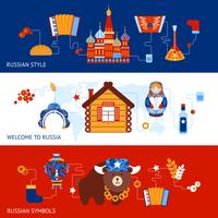 Russia travel banner set vector