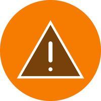 Icona di vettore della scheda di avvertenza
