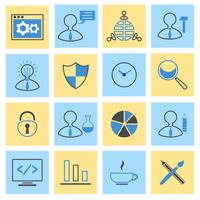 Seo flache Icons Set