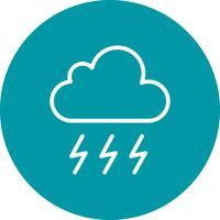 Icono de vector de tormenta