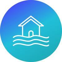 Flood Symbol Vector Icon