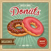 Donut Retro Poster