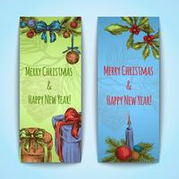 Banners de Natal verticais