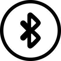 Icono de vector de bluetooth