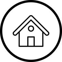 Ícone de vetor em casa