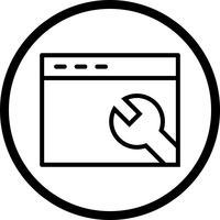 Vektorbrowser-Einstellungssymbol