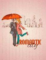 Romantic city poster