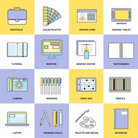 Design Flat Line Icons vector
