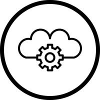 Icono de Vector Cloud Settings