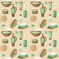 Spa seamless pattern