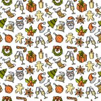 Christmas seamless pattern color