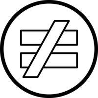 NotEqualTo-Vektor-Symbol