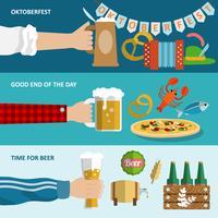 Conjunto de banner de cerveza