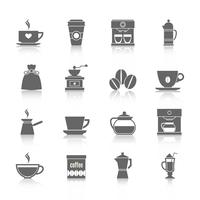Coffee icons black
