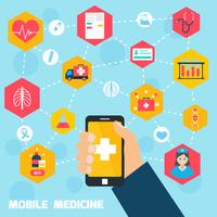 Mobiel gezondheidsconcept