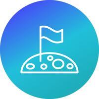 Flagga på månen vektor ikon