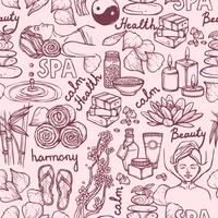 Spa sketch seamless pattern